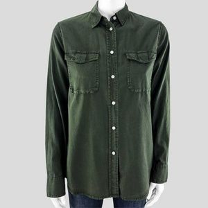 Vince Forest Green Button Down - XS